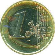 1 euro Beatrix (1ère carte) -  revers