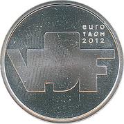 5 euros Sculpture (cuivre plaqué argent) – revers