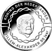 10 euros Anniversaire du roi Willem-Alexander (50 ans, argent) – avers