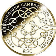 20 euros Anniversaire du roi Willem-Alexander (50 ans) – revers