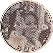 50 euros Jubilé d'argent – revers