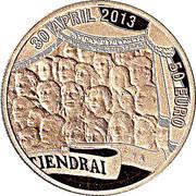 50 euros Couronnement de Willem-Alexander – revers