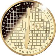 10 euros Schokland – revers