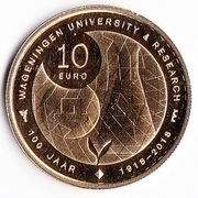10 euros Université de Wageningue – revers