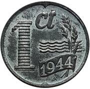 1 cent Wilhelmine (Occupation allemande) – revers