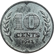 10 cents (occupation allemande) – revers