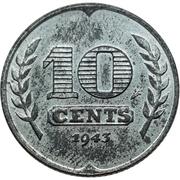 10 cents (occupation allemande) – revers