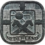 5 Cents - Wilhelmina ( Occupation allemande) – avers