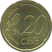 20 cents d'euro Beatrix (2e carte) -  revers