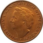 5 cent Wilhelmina – avers