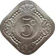 5 cents - Wilhelmina – revers
