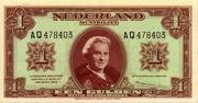 """1 Gulden """"Wilhelmina"""" – avers"""