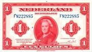 1 Gulden (Wilhelmina) – avers