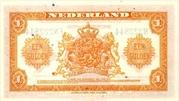 1 Gulden (Wilhelmina) – revers
