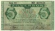 5 Gulden (Zilverbon) – avers
