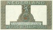 5 Gulden (Zilverbon) – revers