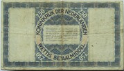 2.5 Gulden (Zilverbon) – revers