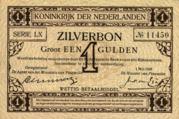 1 Gulden (Zilverbon) – avers