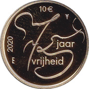 10 euros 75 ans de liberté – revers