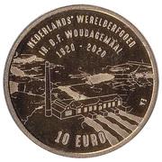 10 euros Station de pompage à vapeur de D.F. Wouda – revers