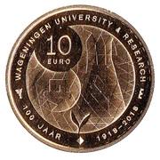 10 euros Université de Wageningue – revers