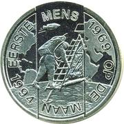 1 ECU - Beatrix (First men on the Moon) -  revers