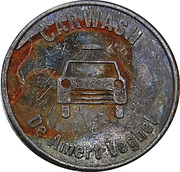 Jeton de lavage automobile - De Amert (Veghel) – revers