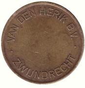 Jeton de lavage automobile - Van Den Herik B.V. (Zwijndrecht) – revers