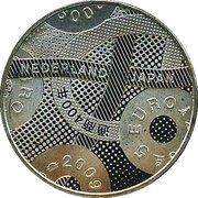 5 euros Commerce Japon et Pays-Bas (cuivre plaqué argent) – revers