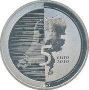 5 euros Waterland (cuivre plaqué argent) – revers