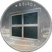 5 euros Peinture hollandaise (cuivre plaqué argent) – revers