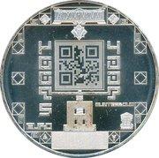 5 euros Monnaie royale Néerlandaise (cuivre plaqué argent) – revers