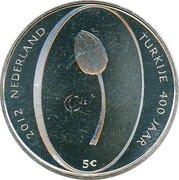 5 euros Relations turco-néerlandaise (cuivre plaqué argent) – revers