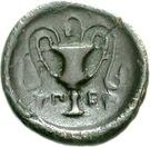 Bronze Æ14 (Peparethos) – revers