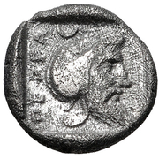 Diobol (Pergamon) – revers