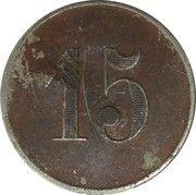 15 Centimes - Cément Obier - Périgueux [24] – revers