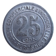 25 centimes - Union Commerciale et Industrielle - Péronne [80] – revers