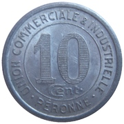 10 centimes - Union Commerciale et Industrielle - Péronne [80] – revers