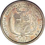 50 centimos (Essai) – avers