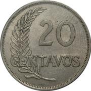 20 centavos -  revers
