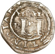 ½ real Philippe II (type RI, avec R) – revers