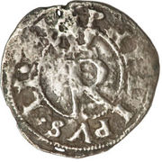 ¼ real Philippe II (type couronné) – avers