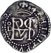 ½ real Philippe II (type monogramme) – avers