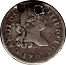 ¼ real Charles IV (type écusson) – avers