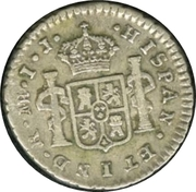 ½ real Charles IV (type IV) – revers