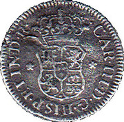 ½ real Charles III (type écusson) – avers