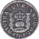 ½ real Charles III (type écusson) – revers