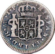 ½ real Ferdinand VII (1er type) – revers