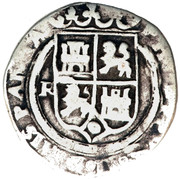 1 real Philippe II (type piliers) – avers