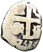 1 real Ferdinand VI (type croix) – avers